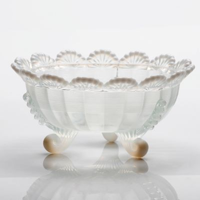 Antique Glass Footed Bowl