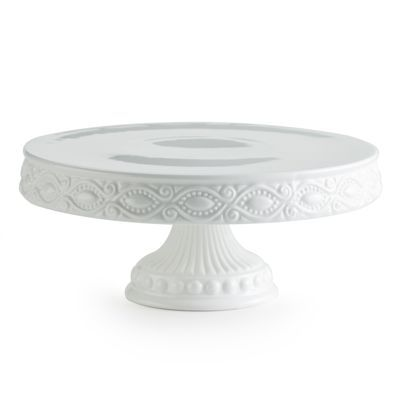 White Skirted Cake Stand