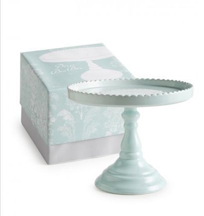 Light Blue Round Cake Stand Sweet And Saucy Supply