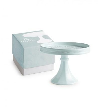 Light Blue Rimmed Cake Stand