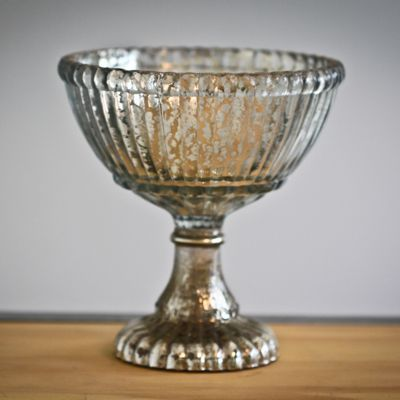 Small Mercury Glass Pedestal Bowl Sweet And Saucy Supply