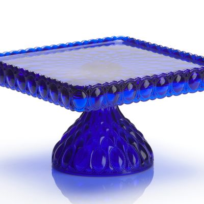 Cobalt Blue 10 Quot Square Glass Stand Sweet And Saucy Supply