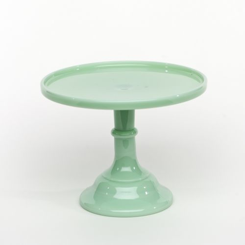 9  Jadeite Antique Cake Stand & 9