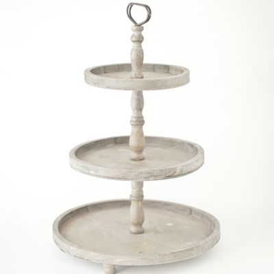 Wooden Three Tier Cake Stand