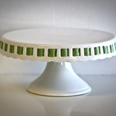 Click to enlarge & Openwork Ribbon Cake Plate - Sweet and Saucy Supply