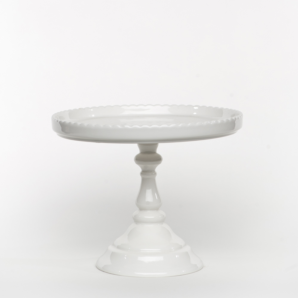 Dbb White Footed Round Cake Stand Sweet And Saucy Supply